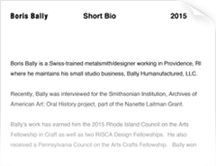 Boris Bally Artist Statement