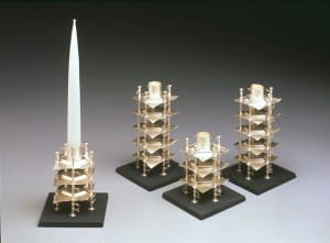 Stacked Pentagon Candlesticks