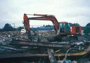 Demolition Site with Girders and Beams