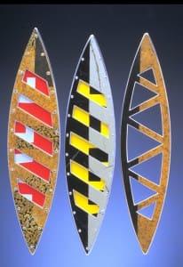 3 Diatom Brooches Barricade & Truss Paramecium