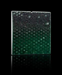 "Square ""De-SIGN' Vitrified Detritus Brooch"